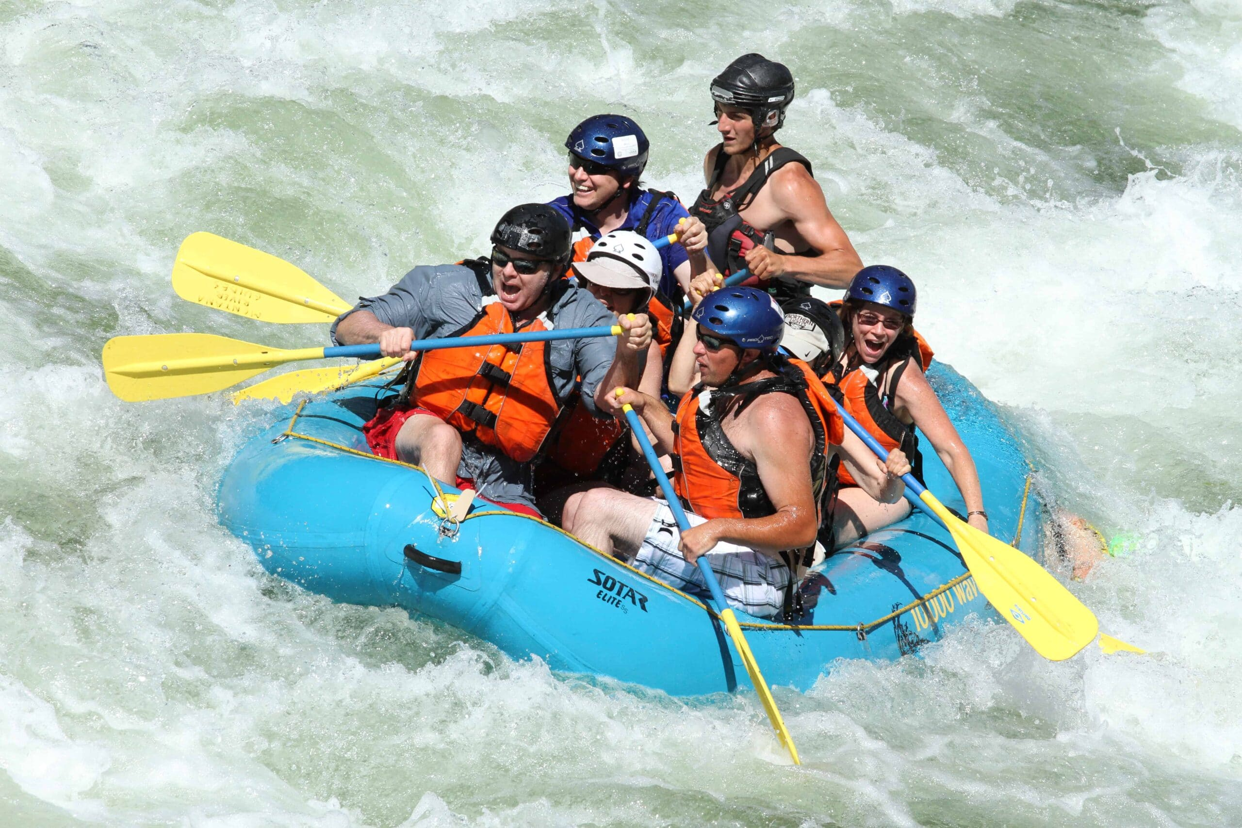 Montana rafting adventure on the Clark Fork River near Missoula