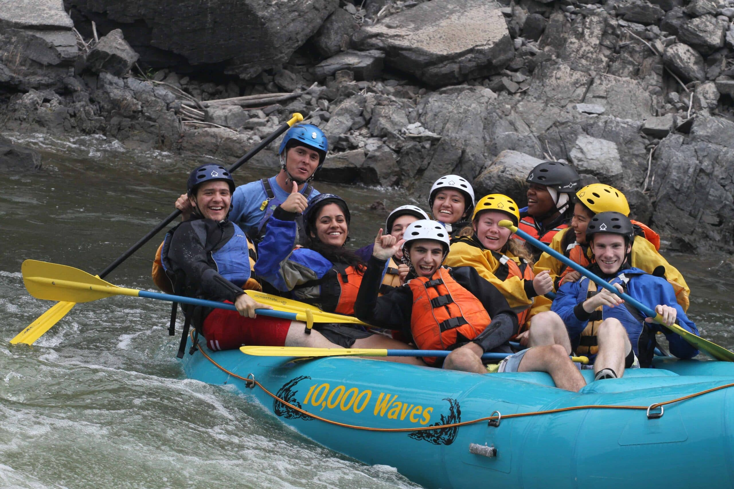 Rafting near Missoula, Montana