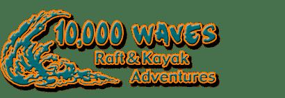 10,000 Waves Raft & Kayak Adventures Logo